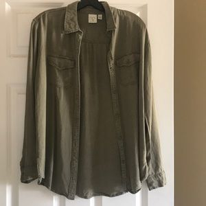 BP Olive Button Up